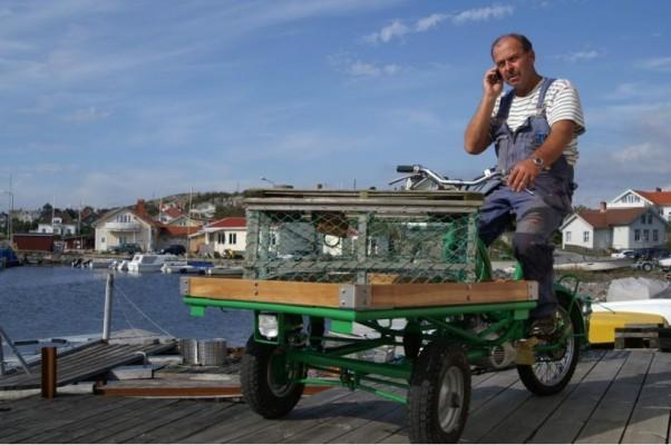 Schwedischer Dreirad-Klassiker : Flakmoped - on the road again