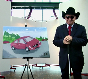 Volvo S60-Bild von blindem Maler versteigert