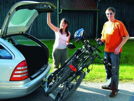 Elegante Fahrrad-Heckträger für die Anhängekupplung
