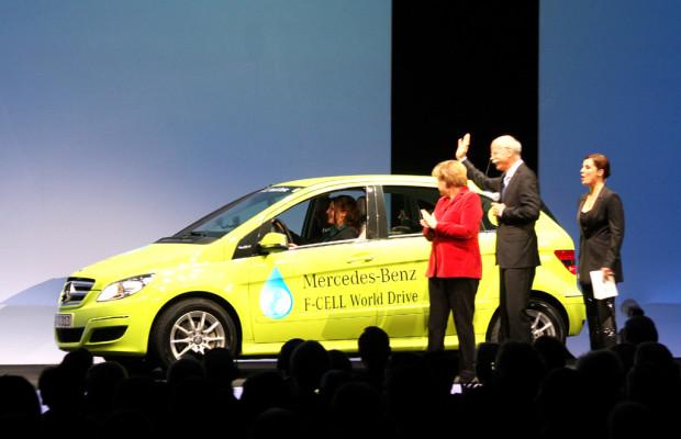 ''Infrastruktur muss Fahrt aufnehmen'': Nach Mercedes-Brennstoffzellen-B-Klassen-Welttour