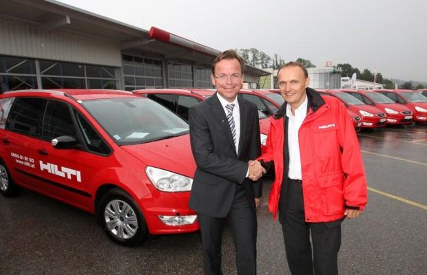 Ford übergibt in Österreich 70 Galaxy an Hilti