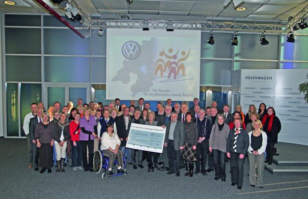 Volkswagen-Mitarbeiter spenden 44 350 Euro