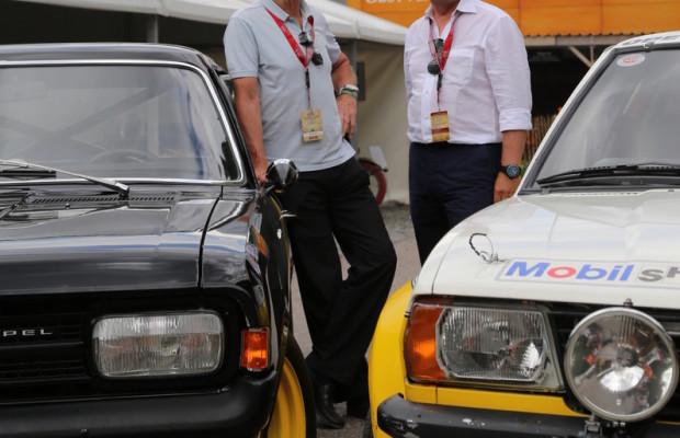 Opel in Schloss Dyck mit Firmengeschichte und Rallyeautos