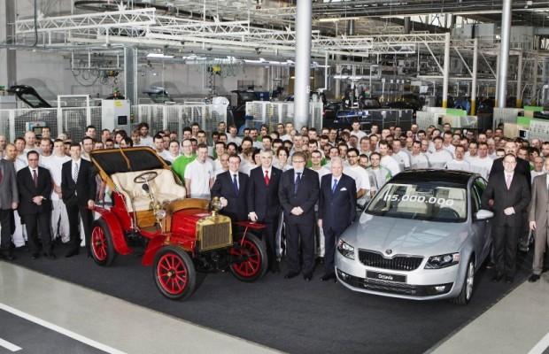 Škoda baut 15 Millionen Autos: Jubiläumsfahrzeug ist der Škoda Octavia III