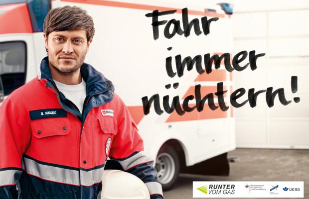 Runter vom Gas: Lebensretter geben Plakaten ihr Gesicht