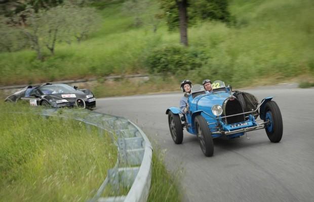 Mille Miglia im Bugatti T35 - Begeisterung in Blau