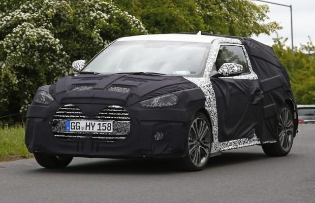 Erwischt: Erlkönig Hyundai Veloster Turbo Facelift