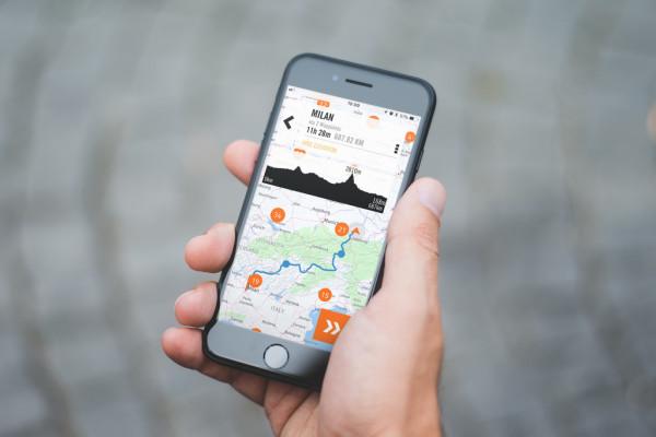 My-Ride-App von KTM mit Navigationsfunktion.