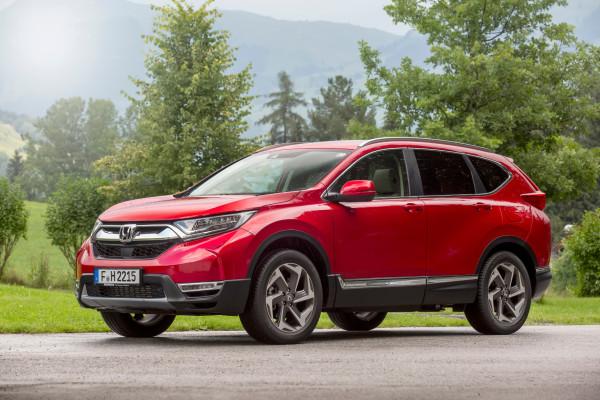 Wuchtige Erscheinung: Man merkt, dass die fünfte Generation des Honda CR-V deutlich mehr Speck auf den Rippen hat.