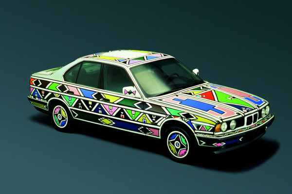 Esther Mahlangus BMW Art Car von 1991 - ein BMW 525i.