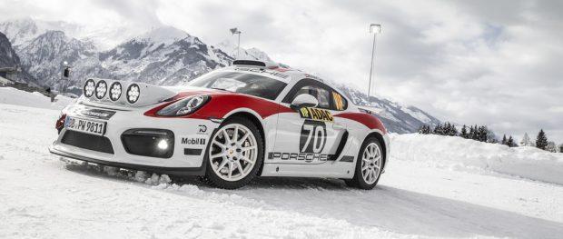 Rallye-Konzeptstudie Porsche Cayman GT4 Clubsport für die FIA-R-GT-Kategorie.