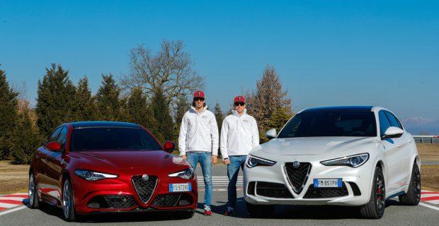 Formel-1-Piloten auf der Alfa-Romeo-Piste