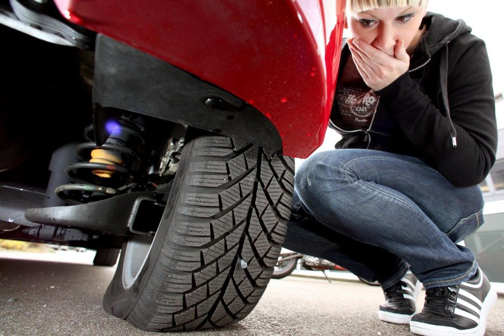 Abgefahrener Reifen